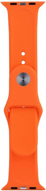Ремешок для смарт-часов Eva AVA001 для Apple Watch 38 мм, оранжевый ремешок apple modern для watch 40 мм размер l лазурная волна