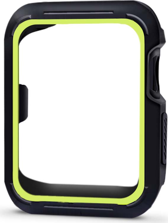 Чехол для смарт-часов Eva AWC007 для Apple Watch 42 мм, черный, зеленый аксессуар чехол eva silicone для apple watch 38mm transparent avc005t