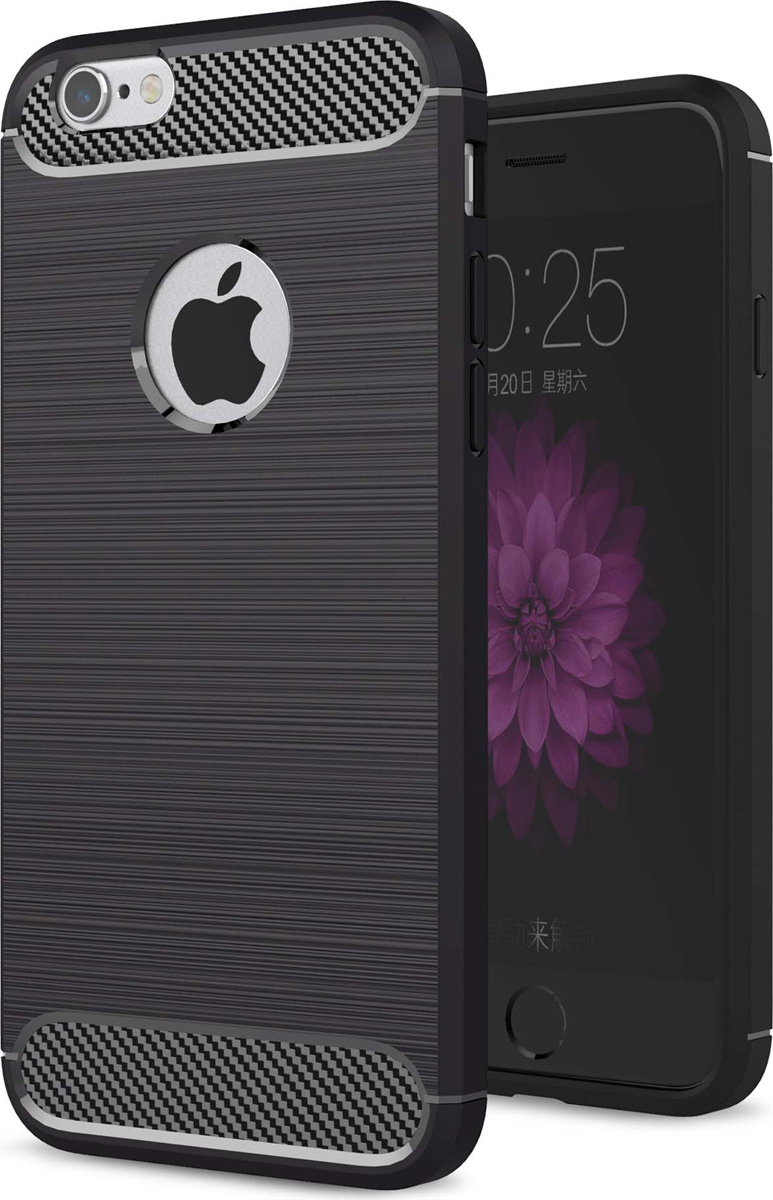 Eva IP8A012B-6 чехол для Apple IPhone 6/6s, Black Carbon