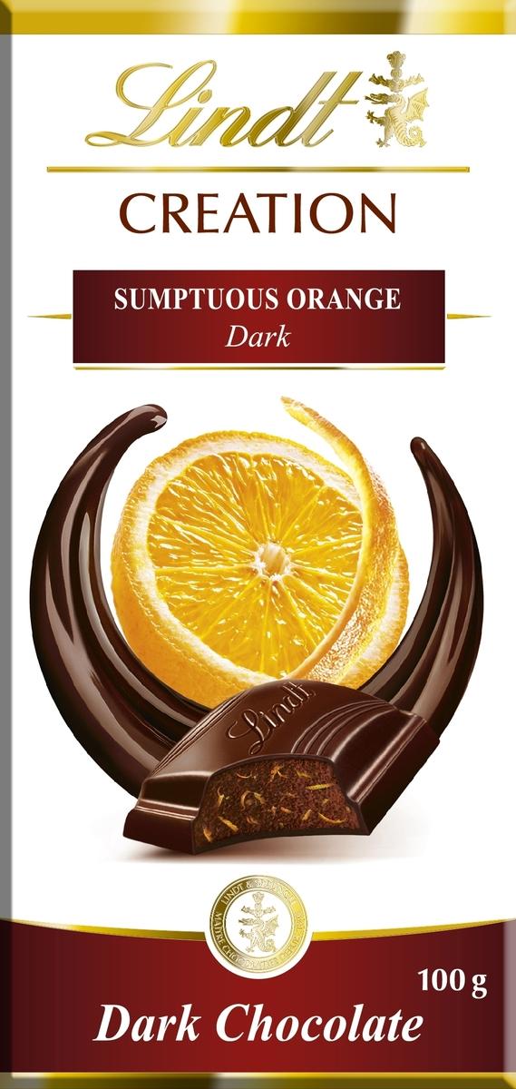 Lindt Creation темный шоколад с начинкой из темного шоколадного мусса и апельсина, 100 г шоколад темный lindt creation мята 150 г