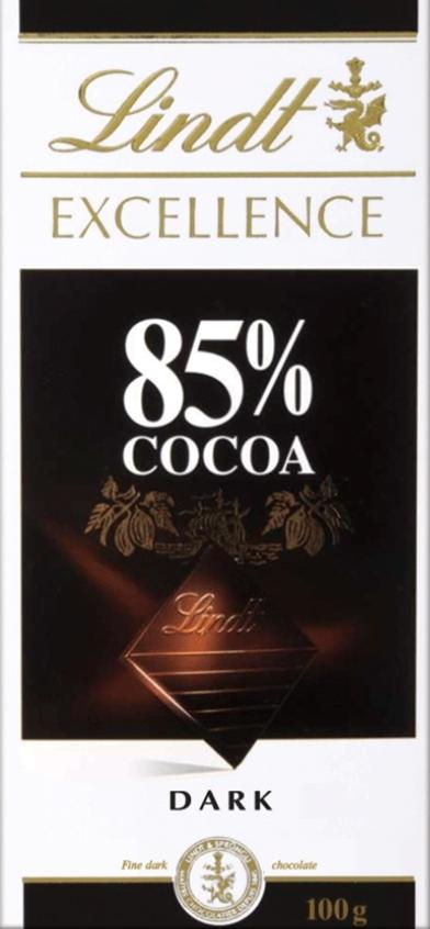 Lindt Excellence горький шоколад 85% какао, 100 г цена