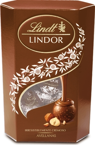 Lindt Lindor конфеты из молочного шоколада с кусочками фундука, 200 г