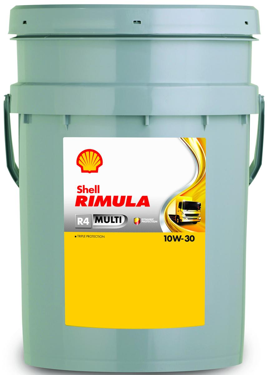 Масло моторное Shell Rimula R4 Multi для дизельных двигателей, 10W-30, минеральное, 20 л