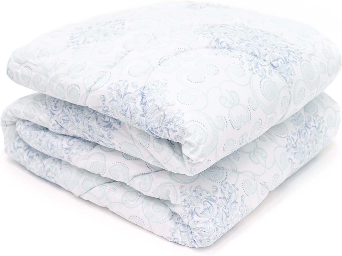 Одеяло Сlassic by T Белый чай, наполнитель: полиэфирное волокно, цвет: голубой, 200 х 210 см одеяло сlassic by t роял бамбук наполнитель бамбук полиэфирное волокно цвет голубой 200 х 210 см