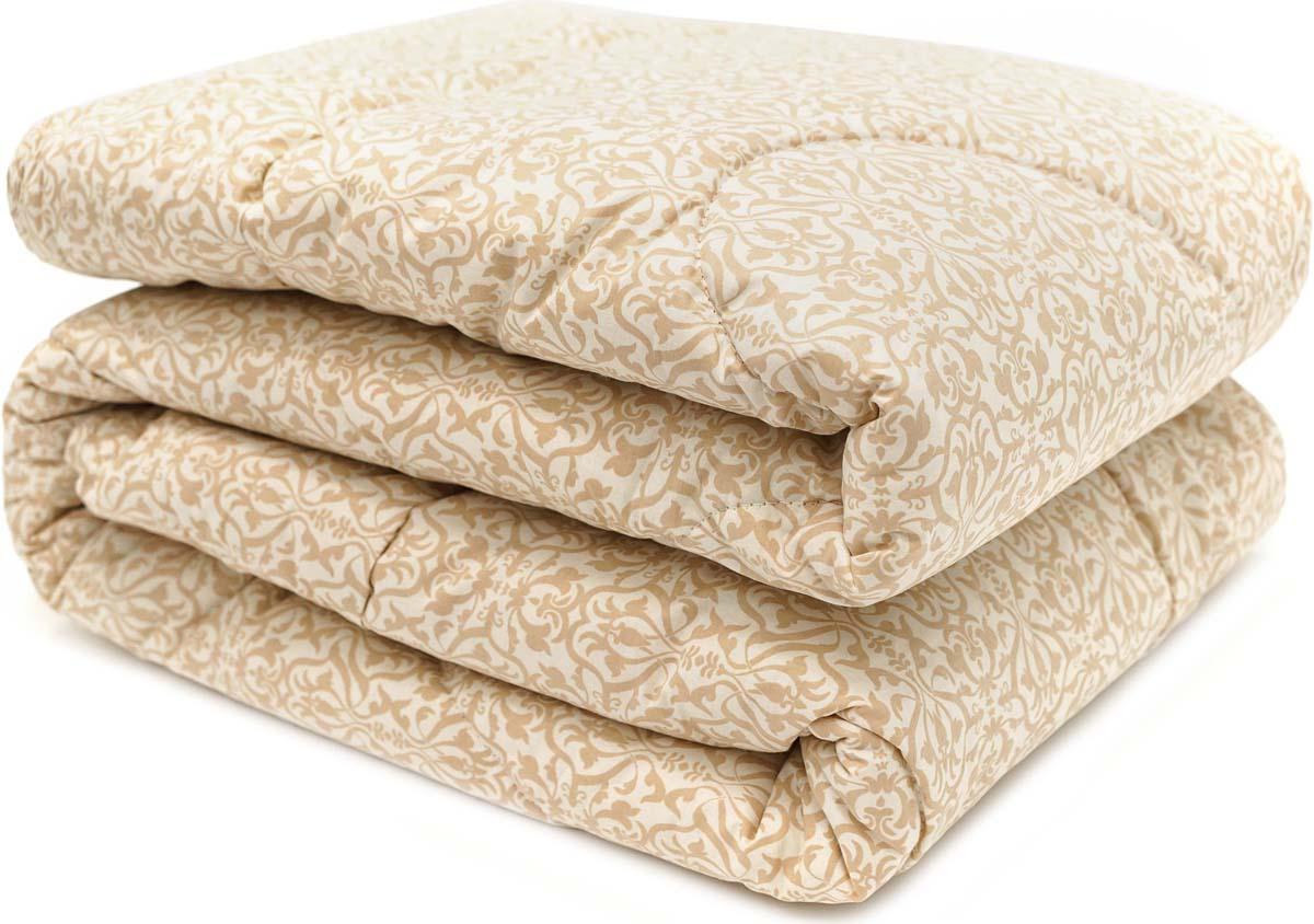 Одеяло Сlassic by T Ренессанс, наполнитель: овечья шерсть, полиэфирное волокно, цвет: экрю, 200 х 210 см одеяло сlassic by t роял бамбук наполнитель бамбук полиэфирное волокно цвет голубой 200 х 210 см