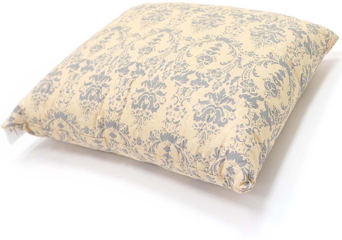 Подушка Сlassic by T Роял найт, стеганая, наполнитель: полиэфирное волокно, цвет: экрю, 70 х 70 см подушка сlassic by t саванна стеганая наполнитель полиэфирное волокно цвет экрю 70 х 70 см