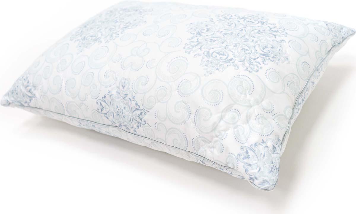 Подушка Сlassic by T Белый чай, стеганая, наполнитель: полиэфирное волокно, цвет: голубой, 50 х 70 см подушка сlassic by t саванна стеганая наполнитель полиэфирное волокно цвет экрю 70 х 70 см