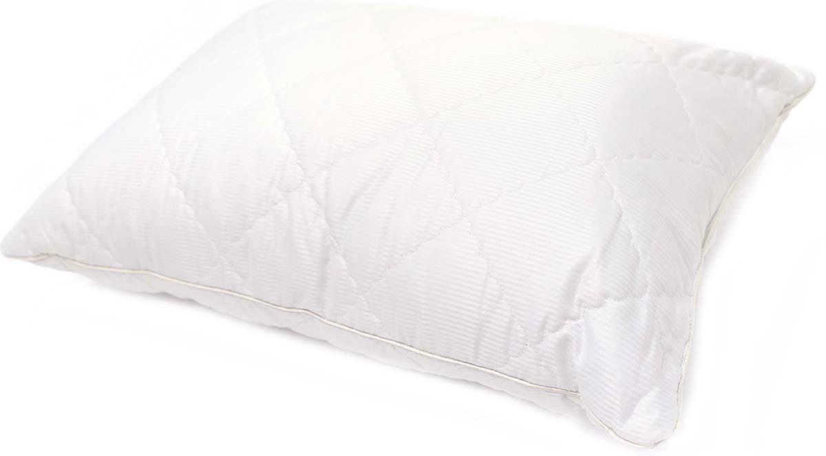 Подушка Сlassic by T Soft Wool, стеганая, наполнитель: полиэфирное волокно, цвет: белый, 50 х 70 см подушка сlassic by t саванна стеганая наполнитель полиэфирное волокно цвет экрю 70 х 70 см