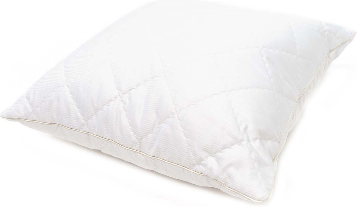 Подушка Сlassic by T Soft Wool, стеганая, наполнитель: полиэфирное волокно, цвет: белый, 70 х 70 см подушка сlassic by t роял бамбук стеганая наполнитель полиэфирное волокно цвет голубой 70 х 70 см