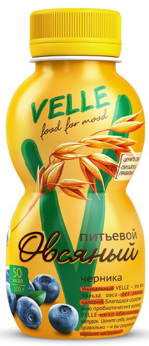 полезное утро продукт овсяный ферментированный клубника 120 г Velle Продукт овсяный питьевой Черника, 250 г