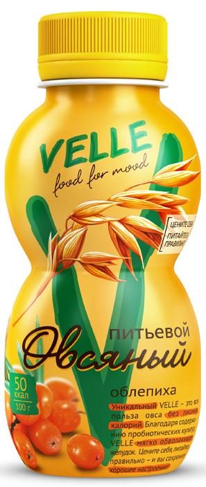 полезное утро продукт овсяный ферментированный клубника 120 г Velle Продукт овсяный питьевой Облепиха, 250 г