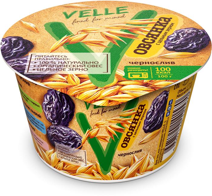 полезное утро продукт овсяный ферментированный клубника 120 г Velle Продукт овсяный ферментированный Чернослив и Овсянка, 180 г