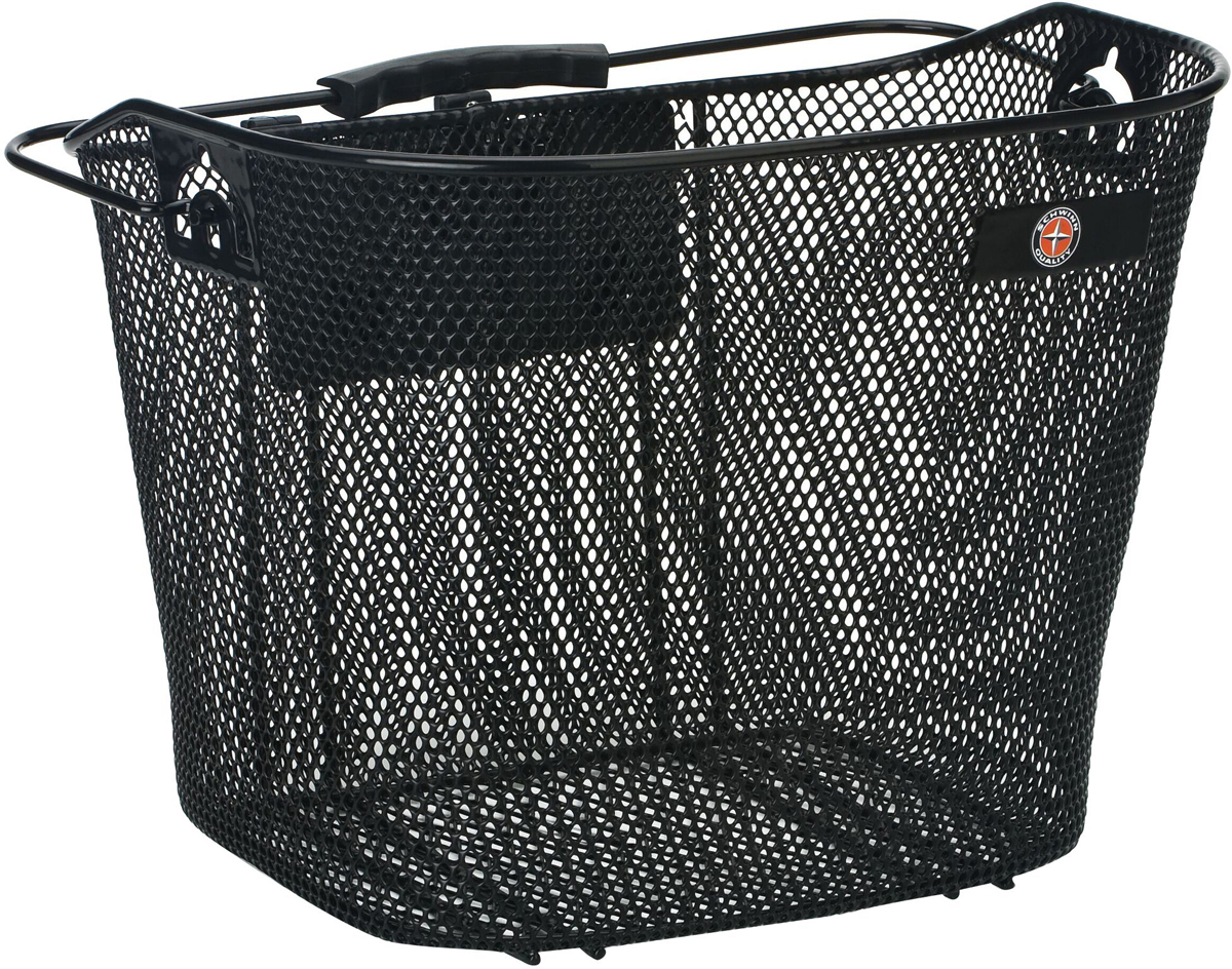 Велокорзина Schwinn Wired Basket, с крепежом, цвет: черный, 35 х 25,5 х 27 см набор ключей schwinn 9 in 1 tool цвет черный