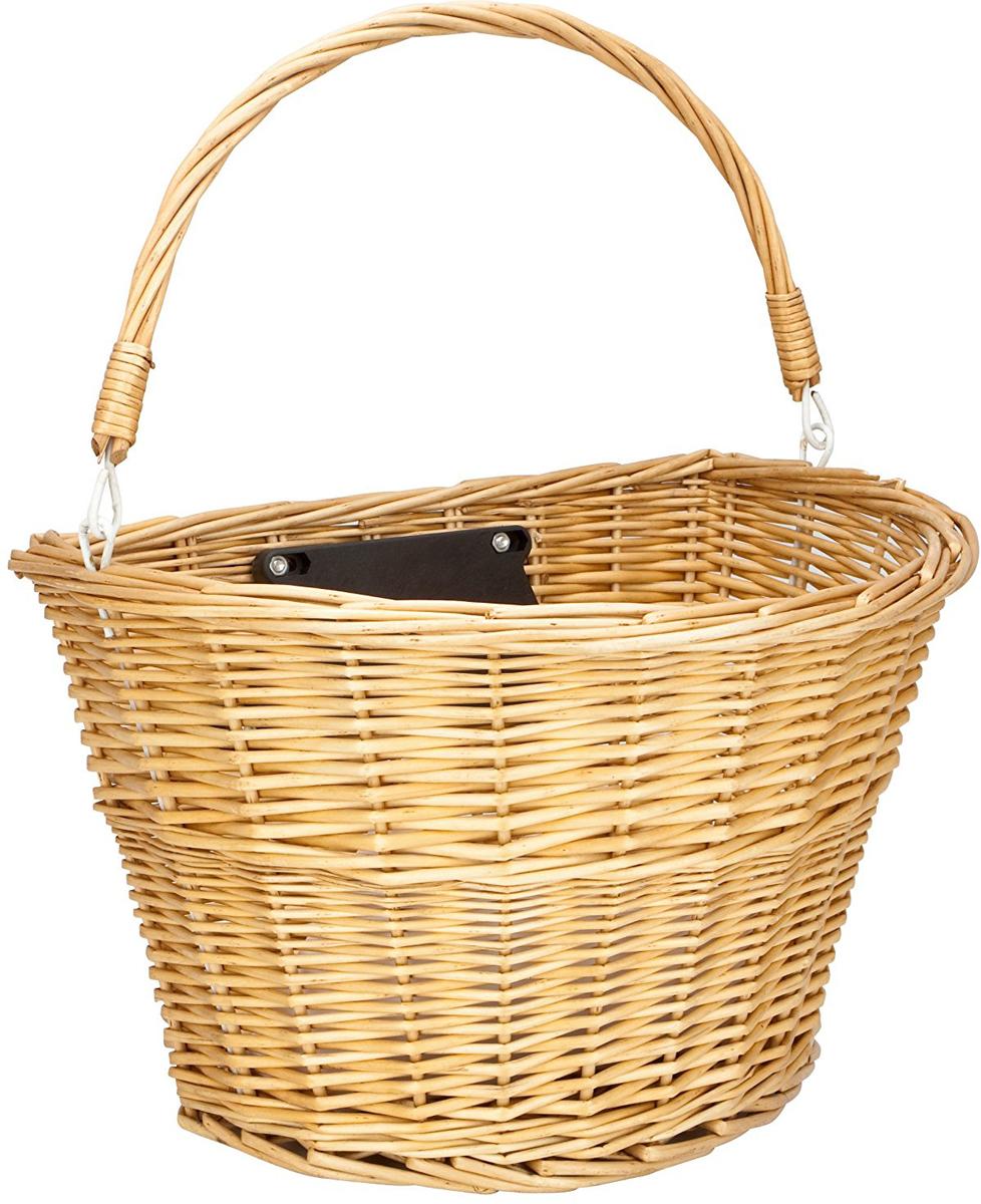 "Велокорзина Schwinn ""Wicker Basket"", с крепежом, цвет: бежевый, 35 х 25,5 х 27 см"