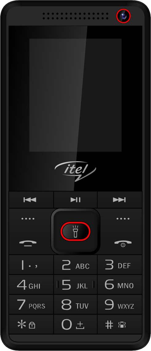 Мобильный телефон ITEL IT2180, красный мобильный телефон itel itel it5630 champagne gold