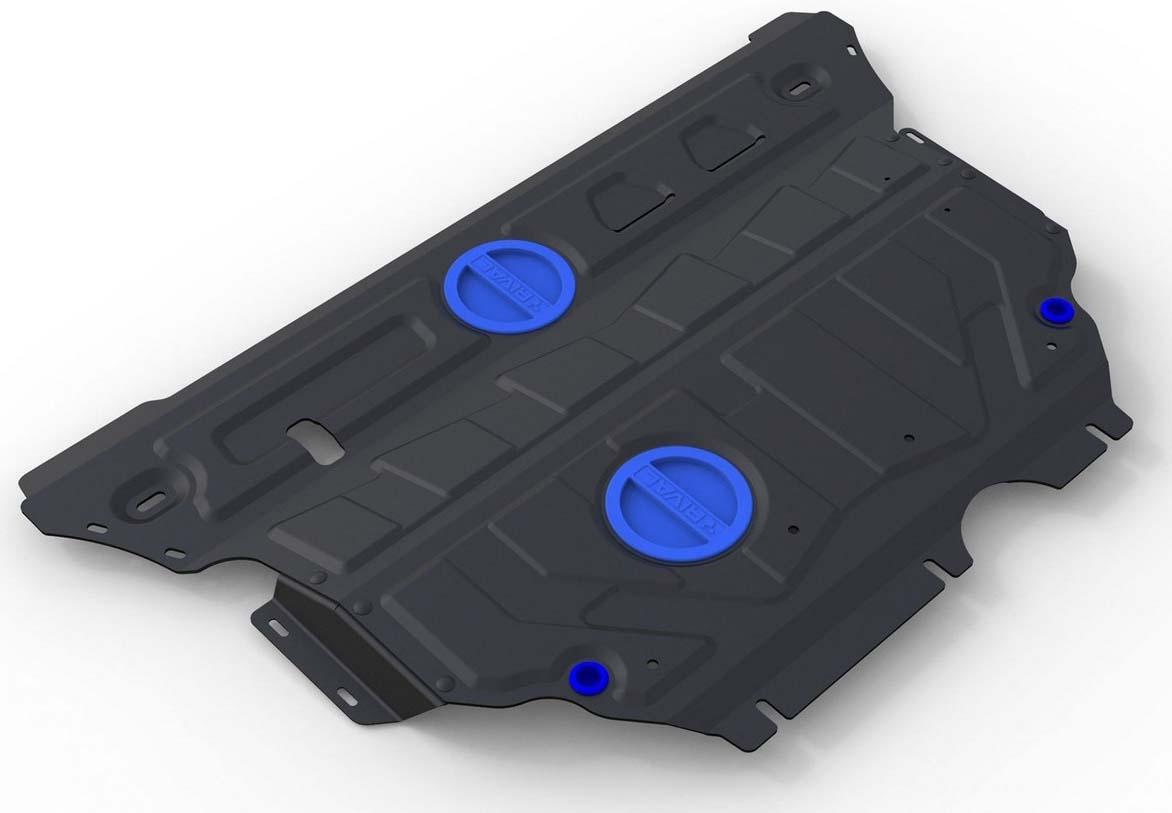 Защита картера и КПП Rival для Audi A3 2012-н.в./Seat Leon 2013-2014/Skoda Superb 2015-н.в./Volkswagen Golf 2013-н.в./Volkswagen Passat 2015-н.в., сталь 2 мм111.0322.1Защита картера и КПП Rival для Audi A3 V - 1.2; 1.4; 1.8 Все 2012-н.в./Seat Leon V - 1.2 2013-2014/Skoda Superb V - 1.4; 1.8; 2.0 Все 2015-н.в./Volkswagen Golf V - 1.2; 1.4 (122 л.с.) 2013-н.в./Volkswagen Passat V - 1.4; 1.8 FWD 2015-н.в., Сталь 2 мм, комплект крепежа, 111.0322.1 Стальные защиты картера Rival надежно защищают днище вашего автомобиля от повреждений при наезде на бордюры, выступающие канализационные люки, кромки поврежденного асфальта или при ремонте дорог, не говоря уже о загородных дорогах. Основными преимуществами продукта являются: - Имеет оптимальное соотношение цена-качество. - Спроектированы с учетом особенностей автомобиля, что делает установку удобной. - Является надежной защитой для важных элементов на протяжении долгих лет. - Глубокий штамп дополнительно усиливает конструкцию защиты. - Подштамповка в местах крепления защищает крепеж от срезания. - Технологические отверстия там, где они необходимы для смены масла и слива воды, оборудованные заглушками, надежно закрепленными на защите. В комплекте инструкция по установке. Уважаемые клиенты! Обращаем ваше внимание, на тот факт, что защита имеет форму, соответствующую модели данного автомобиля. Наличие глубокого штампа и лючков для смены фильтров/масла предусмотрено не на всех защитах. Фото служит для визуального восприятия товара.