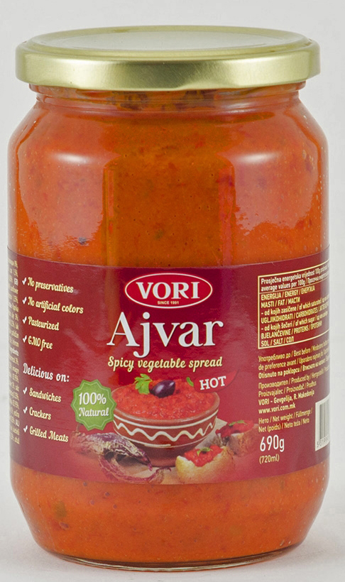 Vori Айвар икра из красного перца острая, 690 г vori тавче гравче 560 г