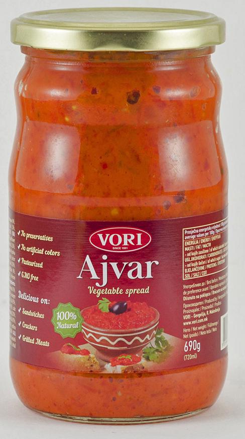 Vori Айвар икра из красного перца сладкая, 690 г vori тавче гравче 560 г