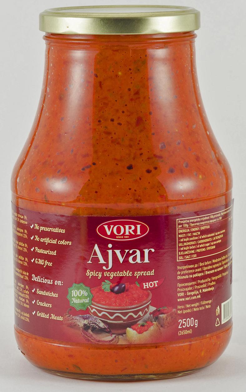 Vori Айвар икра из красного перца острая, 2500 г vori тавче гравче 560 г