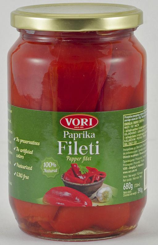 Vori Филета цельный красный перец, 680 г vori тавче гравче 560 г