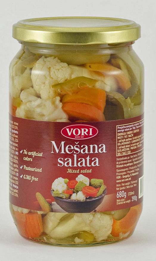Vori Овощной салат, 680 г vori тавче гравче 560 г