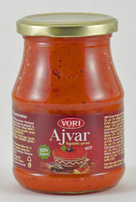Vori Айвар икра из красного перца острая, 360 г vori тавче гравче 560 г