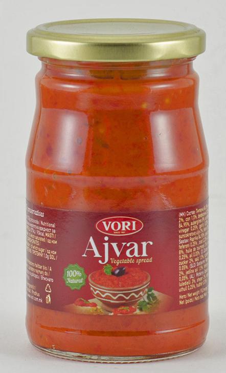Vori Айвар икра из красного перца сладкая, 360 г vori тавче гравче 560 г