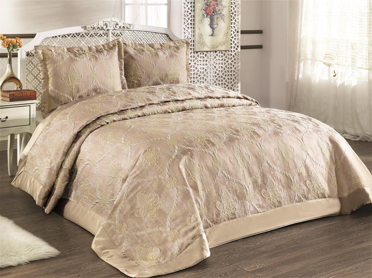 """Комплект для спальни Karna """"Venesia"""": покрывало 260 x 260 см, 2 наволочки 50 х 70. 2972"""