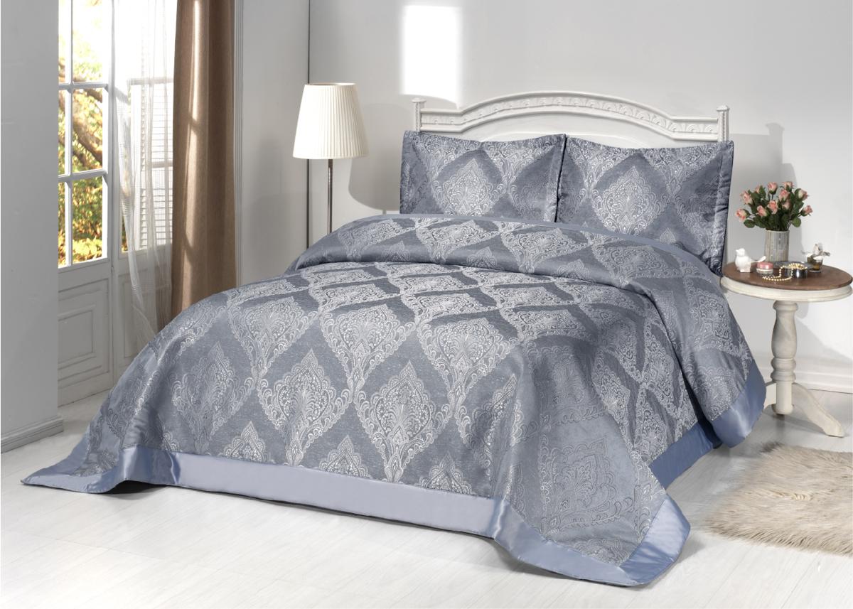 """Комплект для спальни Karna """"Hera"""": покрывало 260 x 260 см, 2 наволочки 50 х 70. 2978"""