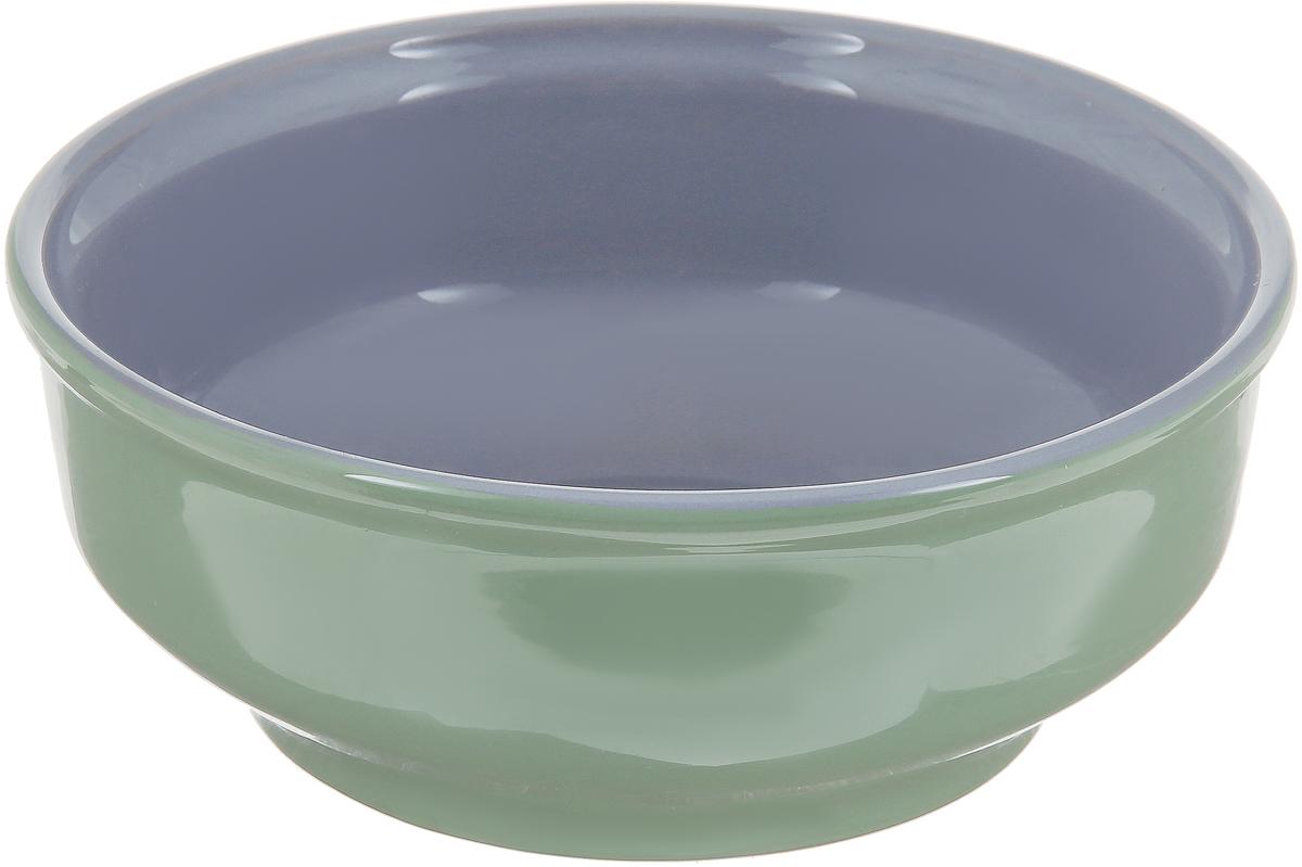 Салатник Борисовская керамика Русский, цвет: зеленый, серый, 500 мл салатник домашний 8см 500мл керамика