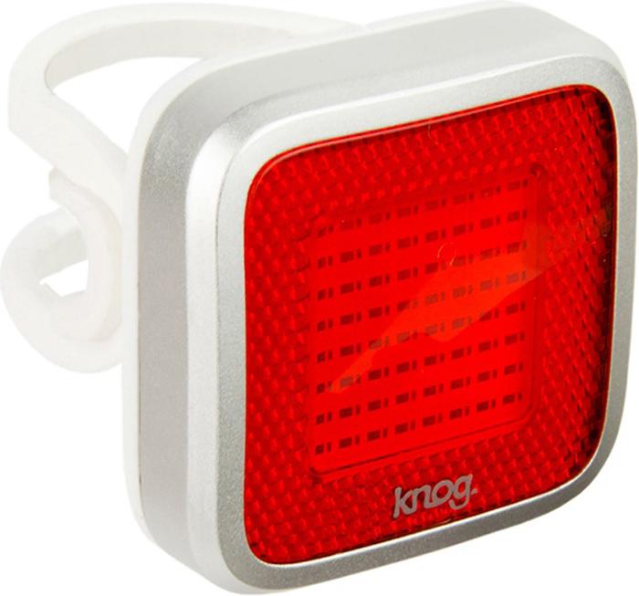 Велофонарь задний Knog Blinder Mob Mr Chips, цвет: серебристый usb перезаряжаемый высокой яркости ударопрочный фонарик дальнего света конвой sos факел мощный самозащита 18650 батареи