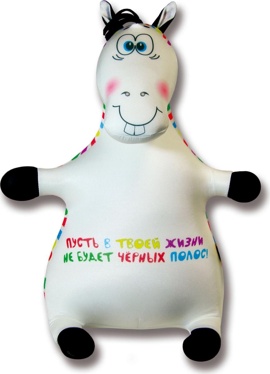 Подушка-игрушка антистрессовая Зебрик яркая полоска