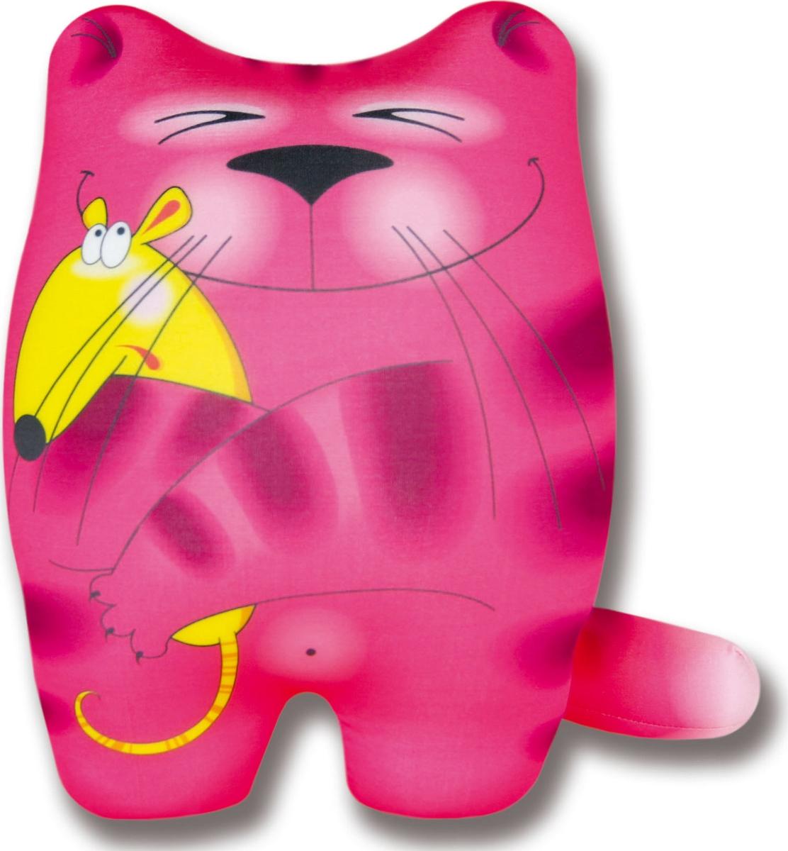 Подушка-игрушка антистрессовая Кошки Мышки, розовый