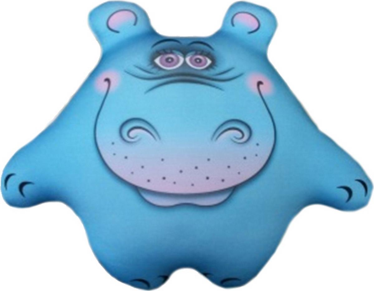 Подушка-игрушка Бегемот Боня, голубой