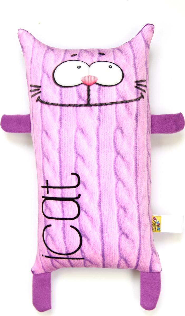 Штучки, к которым тянутся ручки Подушка-игрушка антистрессовая I Cat цвет фиолетовый