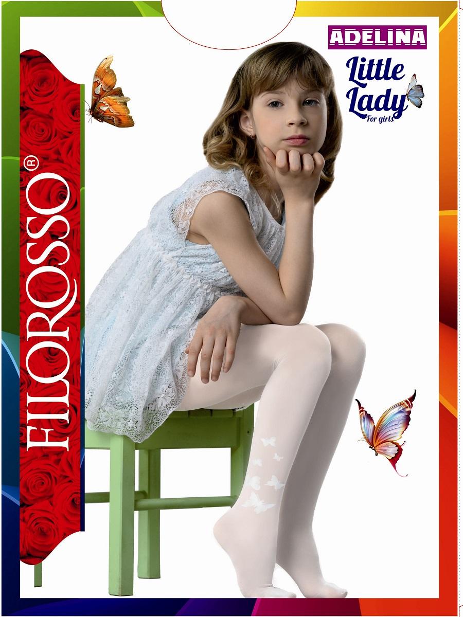 Колготки для девочки Filorosso Бабочки 40, цвет: розовый. Размер 152/158Бабочки 40Колготки детские полиамидные с рисунком Бабочки