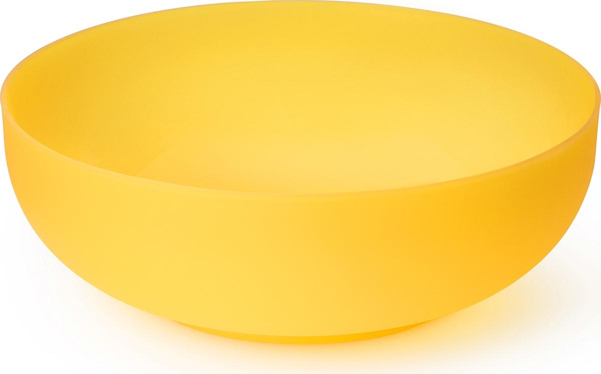 Миска салатная Sagad Пикник, диаметр 22 см, 2 л, цвет: желтый поднос sagad 35 см цвет орхидеи