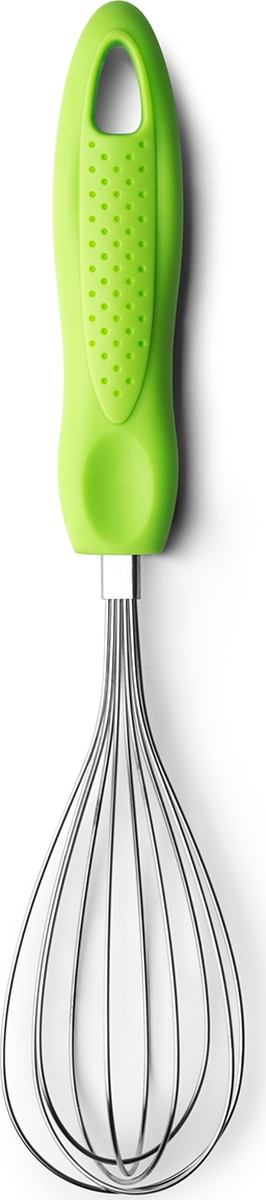 "Венчик Atmosphere ""Веселая кухня"", сталь, цвет: зеленый"