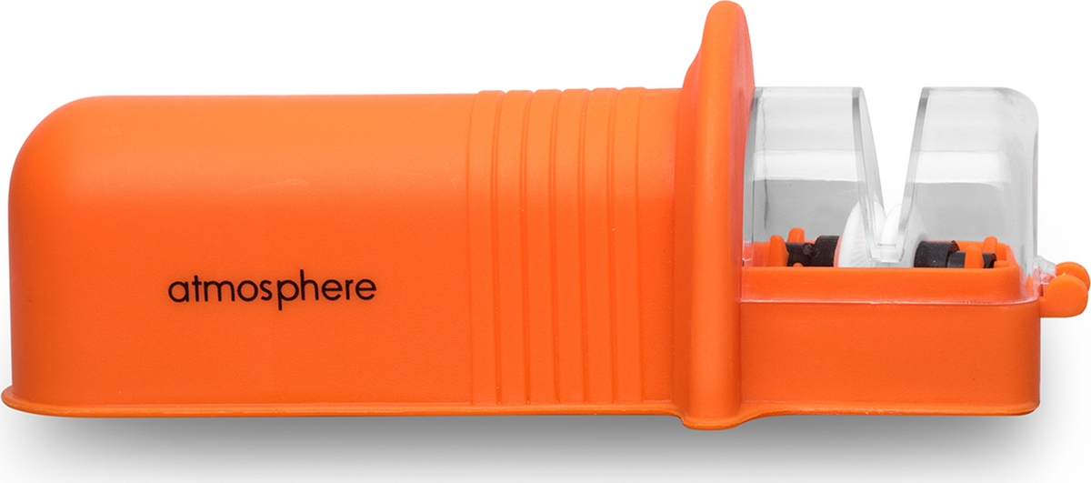 Ножеточка Atmosphere Веселая кухня , цвет: оранжевый венчик atmosphere веселая кухня цвет оранжевый