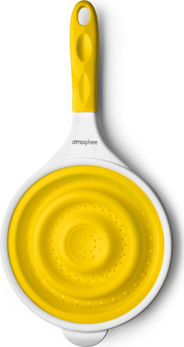 """Дуршлаг Atmosphere """"Веселая кухня"""", силикон, цвет: желтый"""