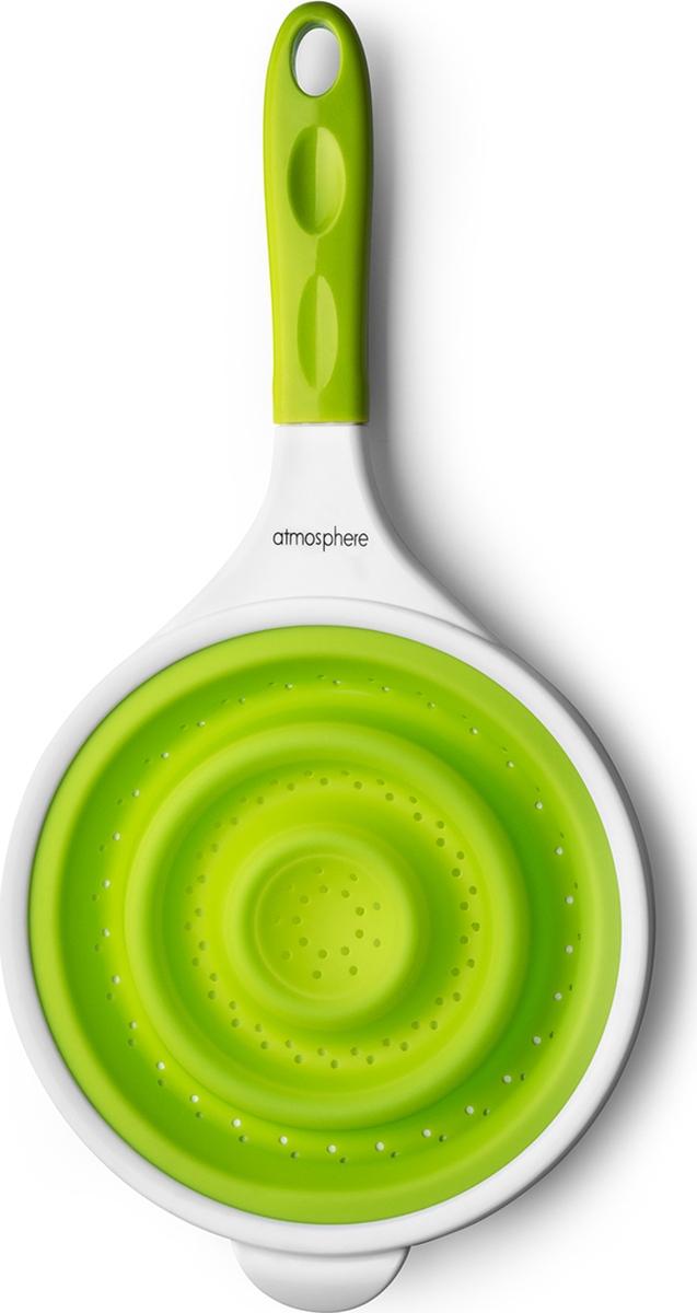 """Дуршлаг Atmosphere """"Веселая кухня"""", силикон, цвет: зеленый"""
