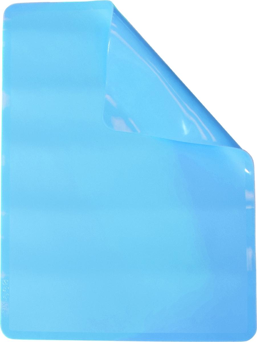 """Мат для выпечки Atmosphere """"Toscana"""", силикон, цвет: голубой, 38 x 28 см"""