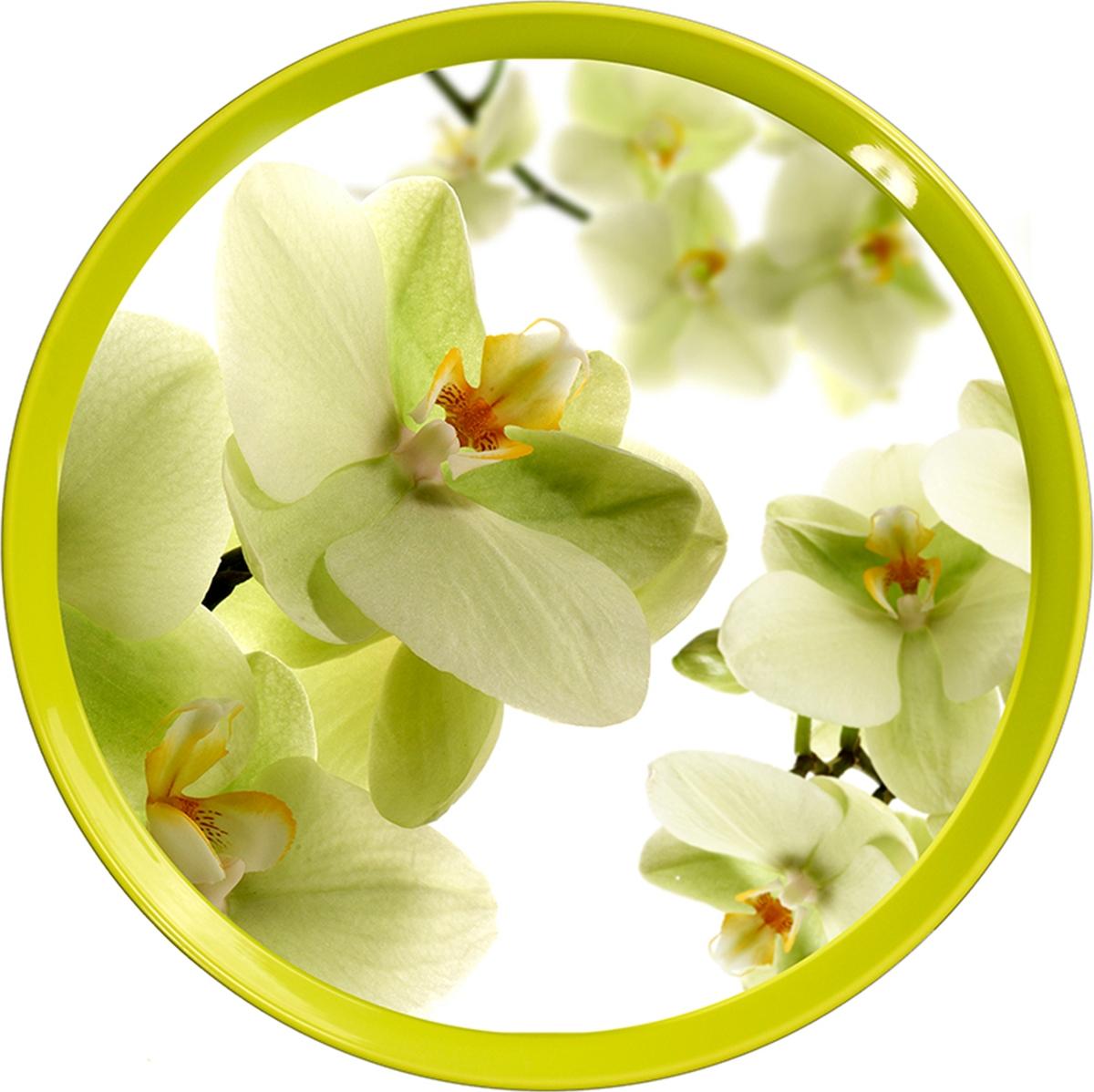 Поднос Sagad, 35 см, цвет: орхидеи поднос sagad 35 см цвет орхидеи