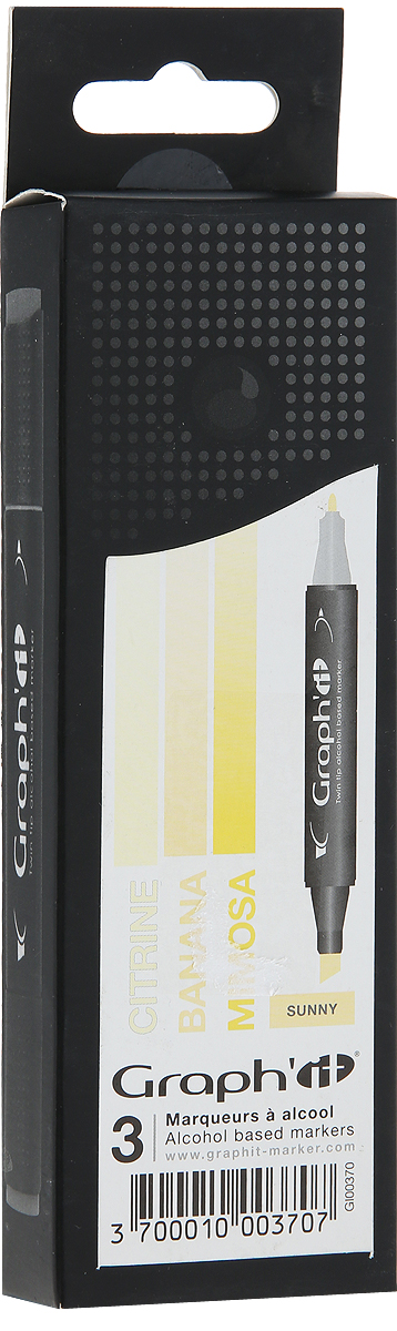 Graph'It Набор маркеров Sunny цвет оттенки желтого 3 шт