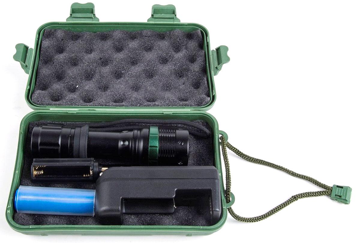 Ручной фонарь Ultraflash 12187, черный фонарь ultraflash e157 налоб аккум 220в желтый cree 3 ватт фокус 3 реж пласт бокс