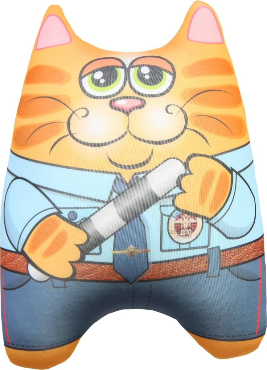 Штучки, к которым тянутся ручки Подушка-игрушка антистрессовая Кот спасатель 15асин15ив-2