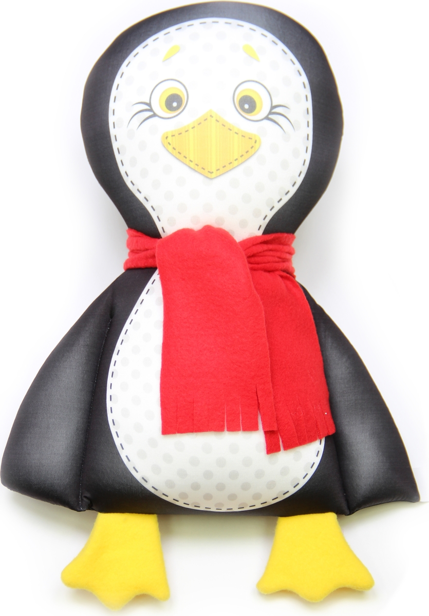 Подушка-игрушка Штучки, к которым тянутся ручки Пингвин 16аси05ив-3, черный