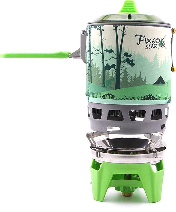 """Система приготовления пищи Fire-Maple """"STAR X3"""", цвет: зеленый, 0,8 л, 2,2 кВт. 1003003"""