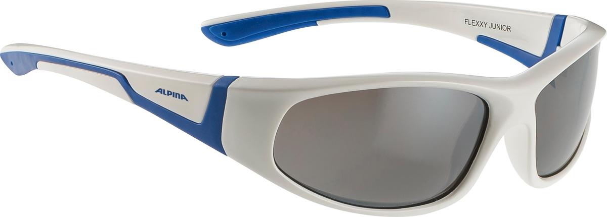 Велосипедные очки Alpina Flexxy Junior, цвет оправы: белый, синий