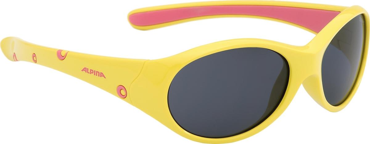Велосипедные очки Alpina Flexxy Girl, цвет оправы: желтый, розовый
